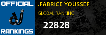 .FABRICE YOUSSEF GLOBAL RANKING