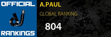 A.PAUL GLOBAL RANKING