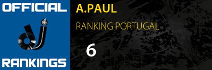 A.PAUL RANKING PORTUGAL