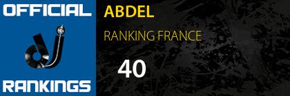 ABDEL RANKING FRANCE