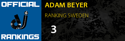ADAM BEYER RANKING SWEDEN