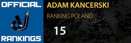 ADAM KANCERSKI RANKING POLAND