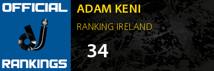 ADAM KENI RANKING IRELAND