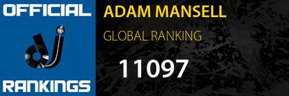 ADAM MANSELL GLOBAL RANKING