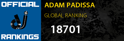 ADAM PADISSA GLOBAL RANKING