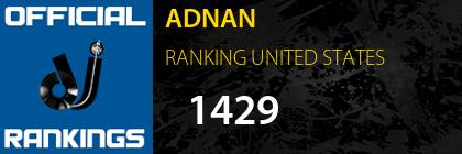 ADNAN RANKING UNITED STATES
