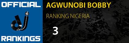 AGWUNOBI BOBBY RANKING NIGERIA