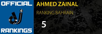 AHMED ZAINAL RANKING BAHRAIN