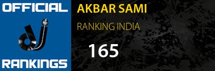 AKBAR SAMI RANKING INDIA