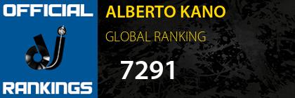 ALBERTO KANO GLOBAL RANKING