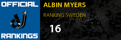 ALBIN MYERS RANKING SWEDEN