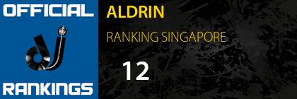 ALDRIN RANKING SINGAPORE