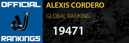 ALEXIS CORDERO GLOBAL RANKING