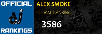 ALEX SMOKE GLOBAL RANKING