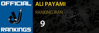 ALI PAYAMI RANKING IRAN