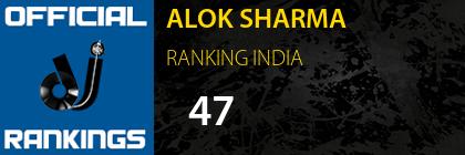 ALOK SHARMA RANKING INDIA