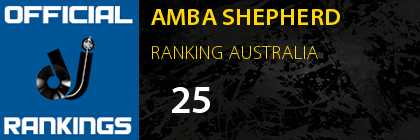 AMBA SHEPHERD RANKING AUSTRALIA