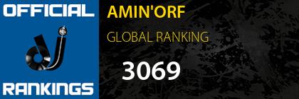 AMIN'ORF GLOBAL RANKING