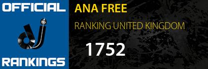 ANA FREE RANKING UNITED KINGDOM