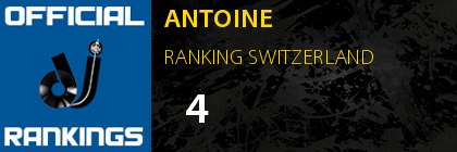 ANTOINE RANKING SWITZERLAND