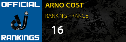 ARNO COST RANKING FRANCE
