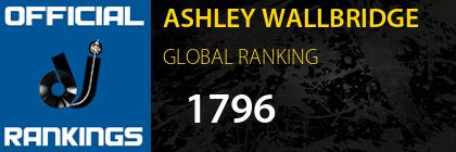 ASHLEY WALLBRIDGE GLOBAL RANKING