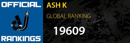 ASH K GLOBAL RANKING