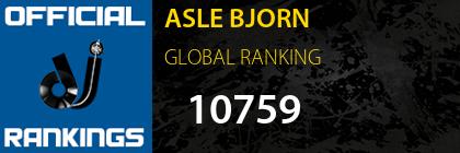 ASLE BJORN GLOBAL RANKING