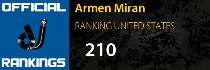 Armen Miran RANKING UNITED STATES