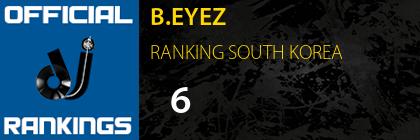 B.EYEZ RANKING SOUTH KOREA