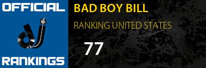 BAD BOY BILL RANKING UNITED STATES