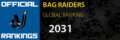 BAG RAIDERS GLOBAL RANKING