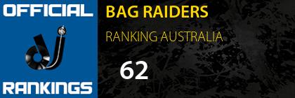 BAG RAIDERS RANKING AUSTRALIA