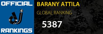BARANY ATTILA GLOBAL RANKING