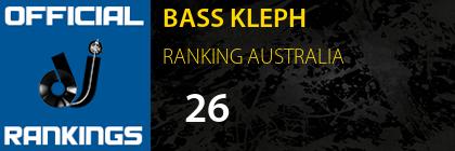 BASS KLEPH RANKING AUSTRALIA