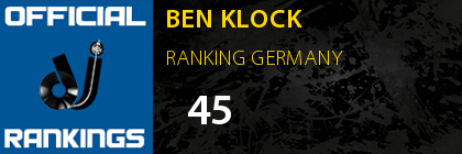 BEN KLOCK RANKING GERMANY