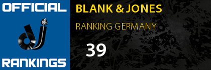 BLANK & JONES RANKING GERMANY