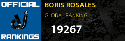BORIS ROSALES GLOBAL RANKING