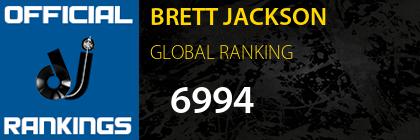 BRETT JACKSON GLOBAL RANKING