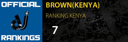 BROWN(KENYA) RANKING KENYA