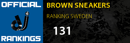 BROWN SNEAKERS RANKING SWEDEN