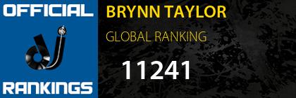 BRYNN TAYLOR GLOBAL RANKING