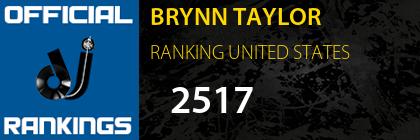 BRYNN TAYLOR RANKING UNITED STATES