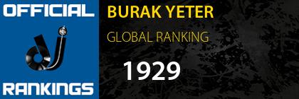BURAK YETER GLOBAL RANKING