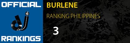 BURLENE RANKING PHILIPPINES