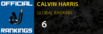 CALVIN HARRIS GLOBAL RANKING