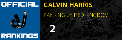 CALVIN HARRIS RANKING UNITED KINGDOM