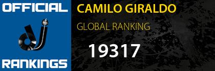 CAMILO GIRALDO GLOBAL RANKING