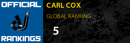 CARL COX GLOBAL RANKING