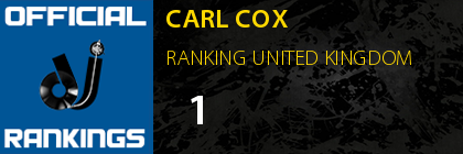 CARL COX RANKING UNITED KINGDOM